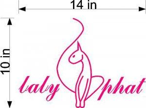 "HUGE 10"" X 14"" Baby Phat Pink Vinyl Sticker Decal Car"