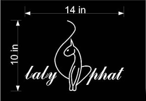 "HUGE 10"" X 14"" Baby Phat White Vinyl Sticker Decal Car"