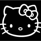 Hello Kitty White Sticker Decal Car FREE SHIPPING #30W
