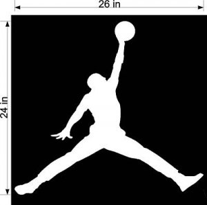 "HUGE 24""X 26"" Michael Jordan Nike Jumpman Sticker Decal"