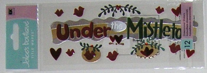 Jolee's Title Waves UNDER MISTLETOE Christmas Stickers