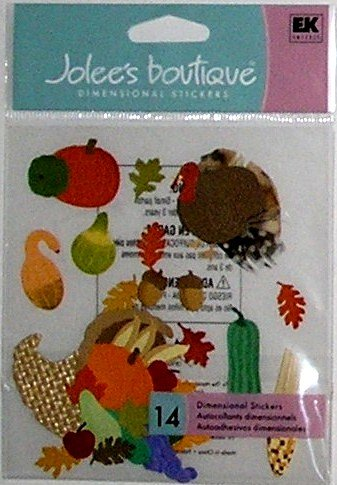 Jolee's Boutique CORNUCOPIA Thanksgiving Stickers