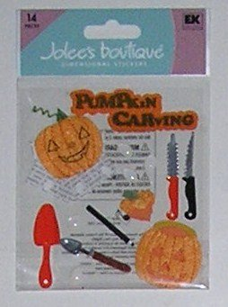 Jolee's Boutique PUMPKIN CARVING Halloween Dimensional Stickers