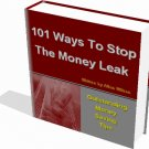 101 Ways to Stop Money Leak eBook Save Tips FREE BONUS