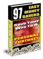 97 easy ways to SAVE MONEY eBook Resale + FREE BONUS