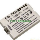 Canon BP-110 BP110 camcorder battery, new battery 1-year warranty