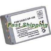 Casio NP-100, NP-100DBA Rechargeable Digital Camera Battery