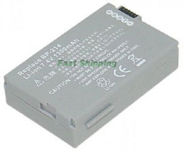 Canon BP-214 BP214 camcorder battery, new battery 1-year warranty