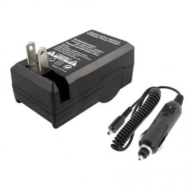 AC/DC Home Car Battery Charger for Canon PowerShot SX410 IS Camera Battery New