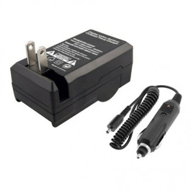 AC/DC Home Car Battery Charger for Canon PowerShot ELPH 350 HS Camera Battery New