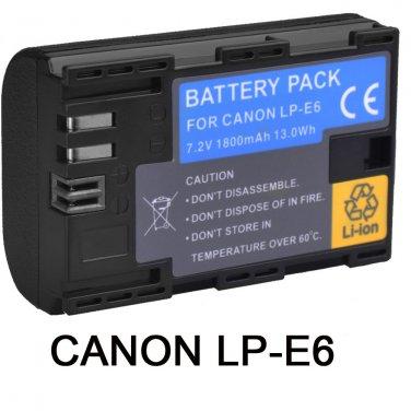 New LP-E6 LP-E6N Battery For Canon EOS 6D 7D 70D 60D 5D Mark II III DSLR Camera