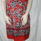 NEW WITH TAGS SAG HARBOR SILKY RED PRINT DRESS PLUS 1X