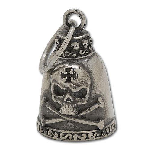 Biker Motorcycle Gremlin Bell - Skull & Cross Bones