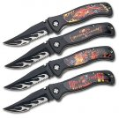 4 Piece Fantasy Folding Knife Set