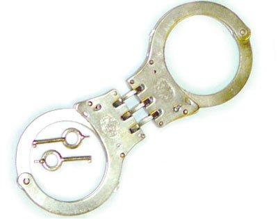 Steel Double Locking Hinged Handcuffs