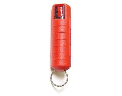 Crime Halter Keychain Red Pepper Spray 1/2 oz - Hard Case - Red
