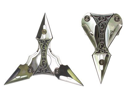 4 Point Folding Throwing Star with Sheath
