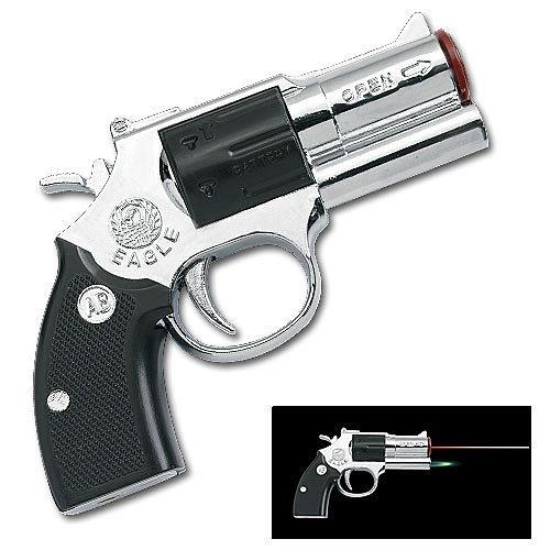 Pistol Lighter with 5 Head Laser