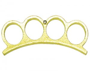 Brass Knuckles Paper Weight - Gold