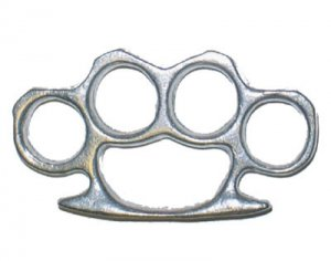 Full Size Brass Knuckles Paper Weight - Aluminum