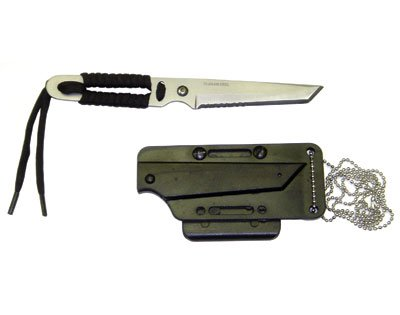 Navy Seals Tanto Neck Knife with Sheath