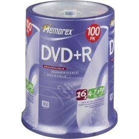 Memrrex 100pack DVD+R