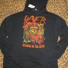 SLAYER Seasons In The Abyss Band Hoodie Shirt Gothic Metal Stoner Musician Rock XS NEW WITH TAGS