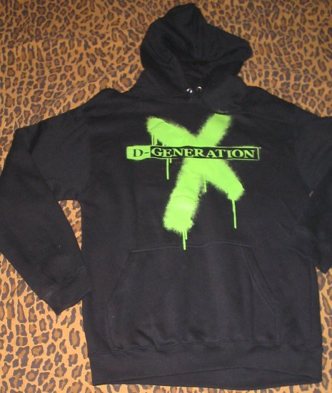 Licensed WWE Wrestling D-GENERATION X Hoodie Shirt Triple H Shawn Michaels Small S NEW WITH TAGS