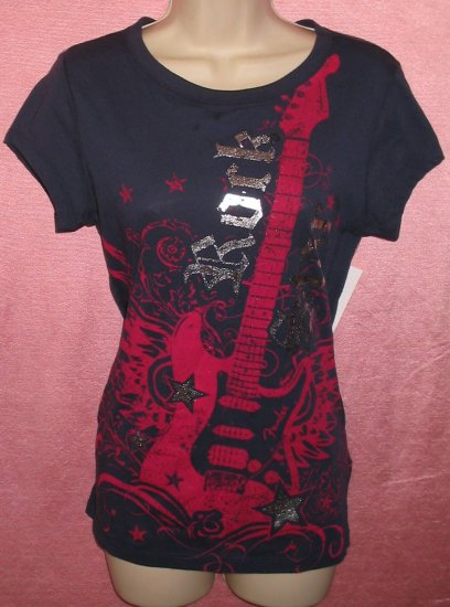 Licensed Fender Guitar Womens T-Shirt Musician Rock Roll Star XL X-Large Goth Punk New With Tags