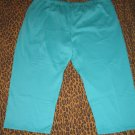 LANE BRYANT Venezia Teal Green Casual Pants Sweats Lounge PJ Plus 5X Retail $35 NEW WITH TAGS