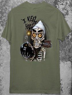 JEFF DUNHAM ACHMED Dead Terrorist Military Green T-Shirt XL Gothic Punk Emo Ventriliquist NEW
