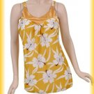 Three White and Yellow Floral Tanks | Small, Medium, Large