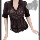Four Black Laced Tops with White Corset | Small, Large
