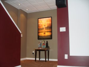 wall inserted flip frame 27x40 lightbox for movie posters. Black Bedroom Furniture Sets. Home Design Ideas