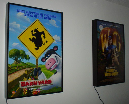 lighted movie poster frame 27x40 new lightbox display. Black Bedroom Furniture Sets. Home Design Ideas
