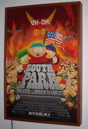 Cinema Movie Poster Lightbox Wood Brazil Cherry Frame