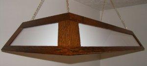 Reclaimed Oak Hanging Pool Table Light NEW ADVERTISING