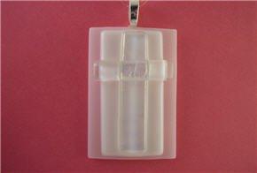 Fused Glass Pendant: Design #6