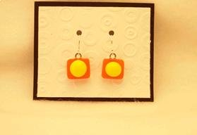 Fused Glass Earrings: Design #105