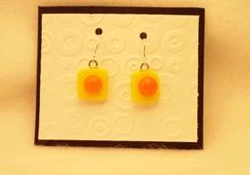 Fused Glass Earrings: Design #106
