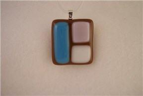Fused Glass Pendant: Design #24