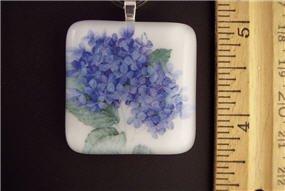 Fused Glass Pendant: Design #55