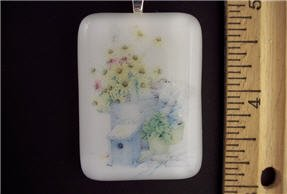 Fused Glass Pendant: Design #57