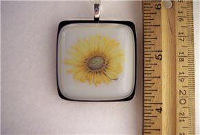 Fused Glass Pendant: Design #62