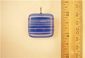 Fused Glass Pendant: Design #74