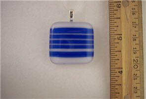 Fused Glass Pendant: Design #77