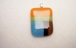 Fused Glass Pendants: Design #112