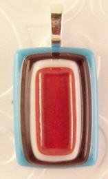 Fused Glass Pendant: Design #45