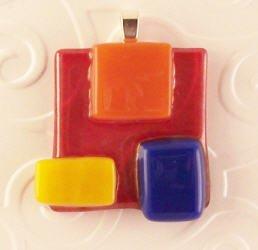 Fused Glass Pendant: Design #68
