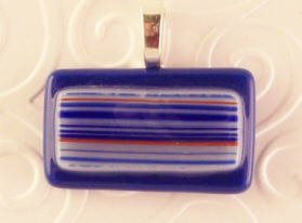 Fused Glass Pendant: Design #82